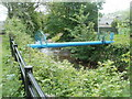 SO2701 : Blue pipe across the river, Pontnewynydd by Jaggery