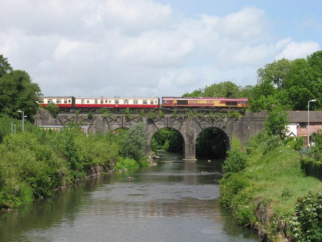 The Thames-Taff Railtour at Bassaleg Viaduct