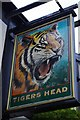 SJ5772 : Sign for the Tiger's Head by Tiger