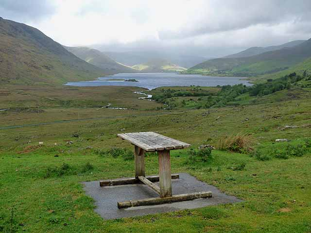 Viewpoint over Lough Nafooey