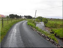 B8327 : Road at Stranabrooey by Kenneth  Allen