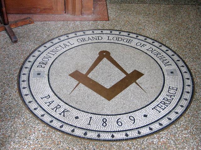 Masonic Hall mosaic, Beamish