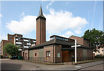 TQ2976 : St George with St Andrew, Patmore Street, Battersea Fields by John Salmon