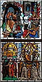 TQ2976 : St George with St Andrew, Patmore Street, Battersea Fields - Stained glass window by John Salmon