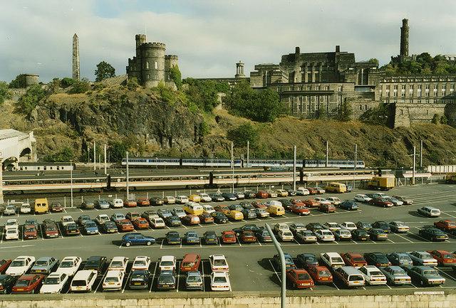 Waverley Station Car Park C Nigel Brown Cc By Sa 2 0 Geograph Britain And Ireland