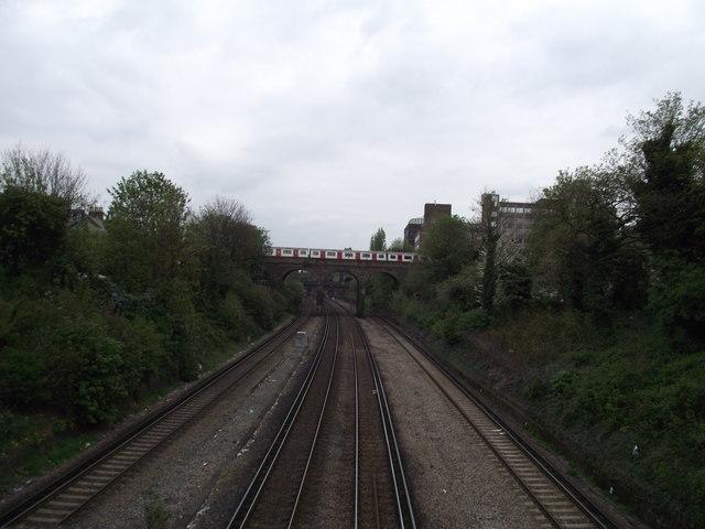 Looking east off the Oxford Road bridge