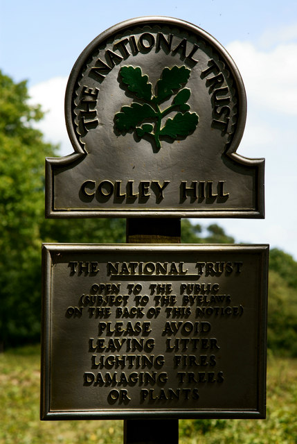 National Trust Sign, Colley Hill, Surrey