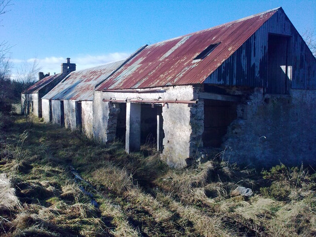 Ruined croft and byre at Colony