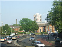 TQ3479 : Rotherhithe roundabout by Malc McDonald