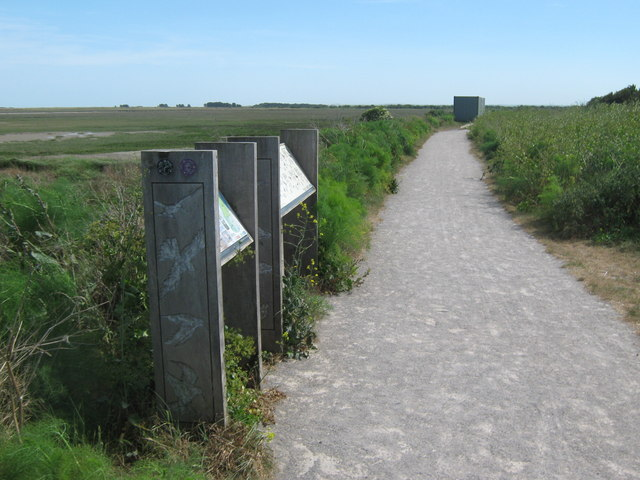 Information Boards in Pegwell Bay Nature Reserve