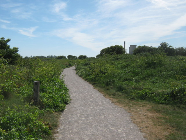 Path in Pegwell Bay Nature Reserve