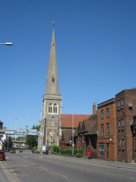 A classic church spire