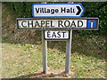 TG0321 : Chapel Road East sign by Adrian Cable