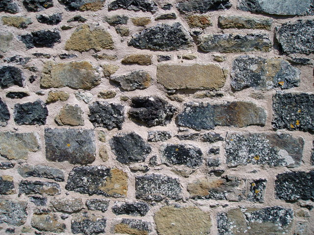 Wall - Local Serpentine Stone used for building