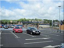 SJ2207 : Tesco car park Welshpool by John Firth
