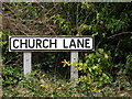 TM3050 : Church Lane sign by Adrian Cable