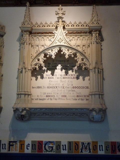 Tyneham: Bond memorial in the church