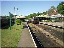 TQ3729 : Busy scene at Horsted Keynes station by Marathon