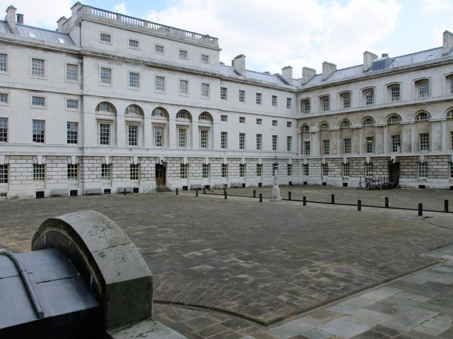 Courtyard in the Old Royal Naval College, Greenwich