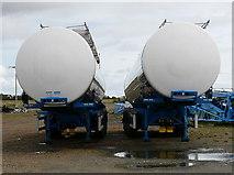 ND1559 : Tanker trailers at Georgemas Junction by sylvia duckworth
