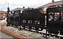 J3272 : Train sculpture, Belfast (1) by Albert Bridge
