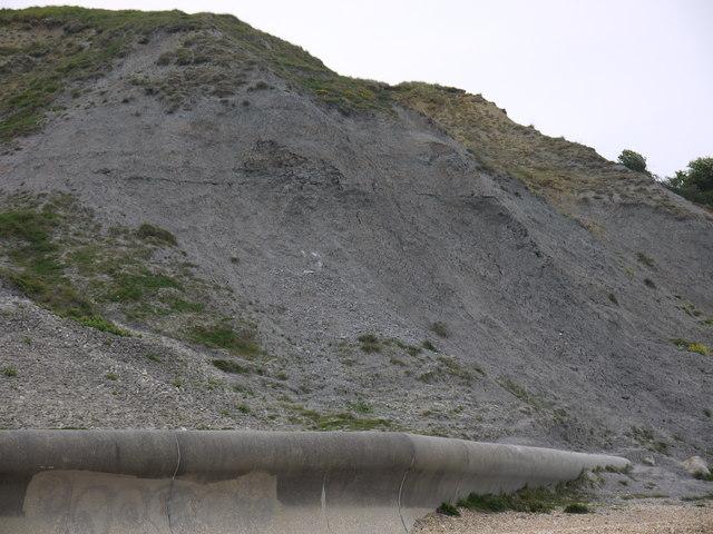 Furzy cliffs Overcombe Weymouth Dorset