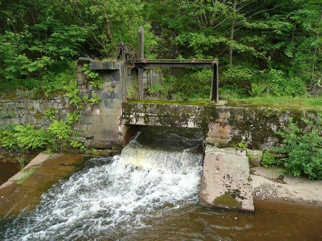 Penstock next to Walsden Water