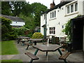SJ8079 : The beer garden at the Bird in Hand, a Sam Smith's pub by Ian S