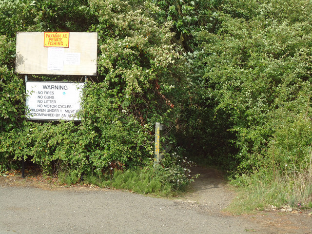 Stour Valley Walk; entrance from Factory Lane, Brantham Industrial Estate