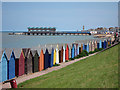 TR1668 : Herne Bay Beach Huts & Pier by Oast House Archive