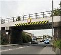 SJ9292 : Ashton Road railway bridge by Gerald England