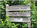 TQ8109 : Summerfields Woods sign by Oast House Archive