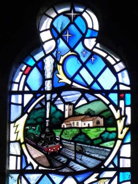 Stained glass window, St Cuthbert's Church