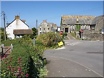 SW9980 : Road junction, Port Isaac by Derek Harper