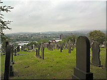 SJ9498 : View from Dukinfield Cemetery by Gerald England