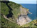 SW9881 : Cove near Pine Haven by Derek Harper