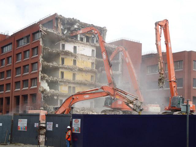 Demolition of Goodmans Fields