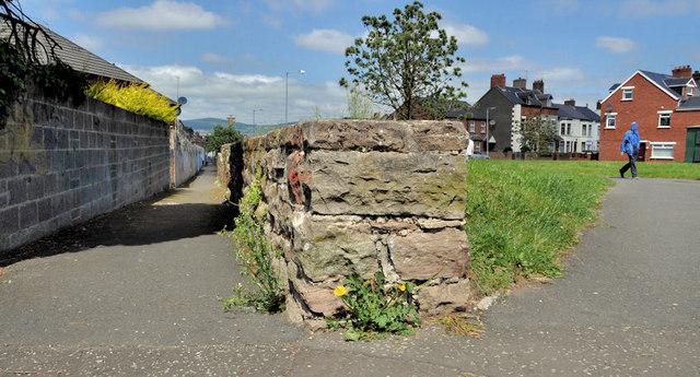 Former railway wall, Belfast