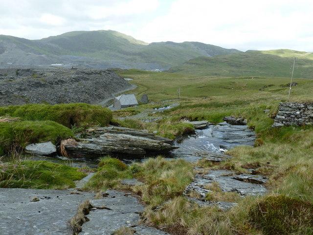 Leat descending the lower slopes of Moel Bowydd