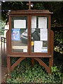 TM2442 : St.Mary's Church Notice Board, Bucklesham by Adrian Cable