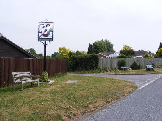Church Lane & Bucklesham Village Sign