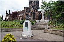 SO9198 : War memorials in St Peter's Gardens by Bill Boaden