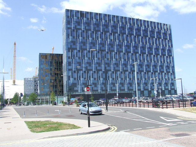 Office blocks at North Greenwich