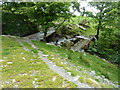 SH7142 : Old and new farm bridges over the Nant-Llyn-motwynion by Dave Spicer