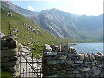 SH6459 : Gate into Cwm Idwal NNR by Jeremy Bolwell