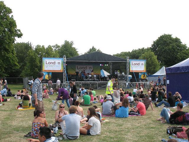 London's Green Fair: music stage