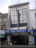 TQ3476 : Entrance to Rye Lane Indoor Market, Peckham by PAUL FARMER
