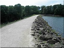 SE3337 : The dam wall head, Waterloo Lake, Roundhay Park, Leeds by Steve  Fareham