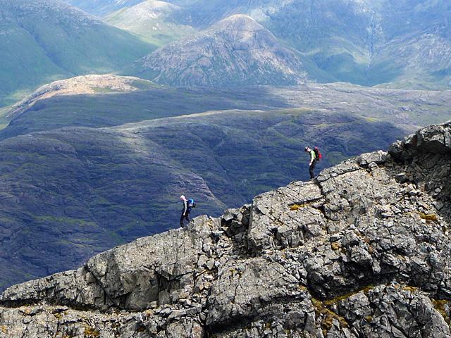 Descending Sgurr Thearlaich