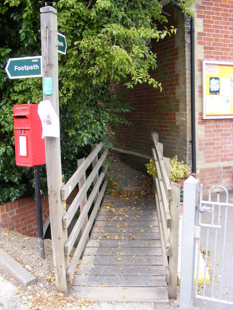 Footpath to Bedfield Road & The Street Bakery Postbox